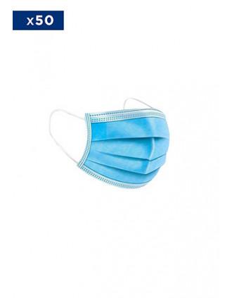 Masque médical Jetable - 3 Couches - Vendu par Pack de 50 ex