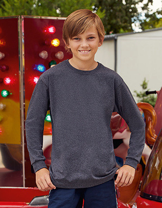 T-SHIRT ENFANT MANCHES LONGUES VALUEWEIGHT (61-007-0)