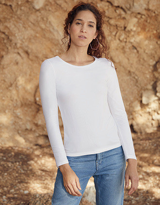 T-SHIRT FEMME MANCHES LONGUES VALUEWEIGHT (61-404-0)