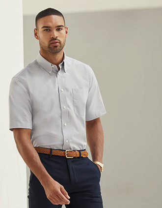 CHEMISE HOMME MANCHES COURTES OXFORD (65-112-0)