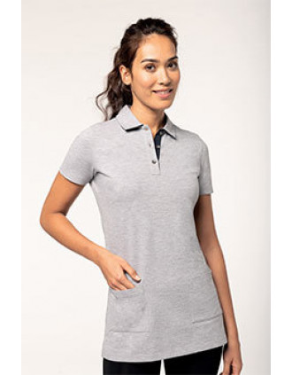 Polo long manches courtes femme