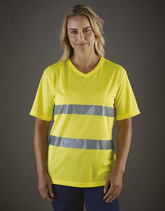 T-shirt col V haute visibilité Top Cool